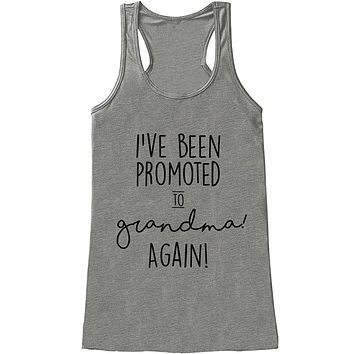Custom Party Shop Women's Promoted to Grandma Pregnancy Announcement Tank Top