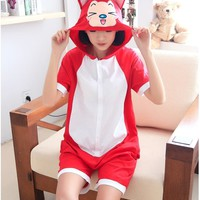 Ali fox Onesuits pajamas Cartoon Animal Pajama Jumpsuit Hoodies sleepwear pyjamas