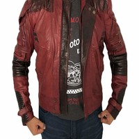 Avengers: Infinity War Star Lord Leather Jacket - Best Selling: Amazon.ca: Clothing & Accessories
