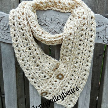 Hand crochet Scarf/Neck Warmer, Autumn Leaves Scarf/Cowl