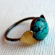 The World Between Hearts- Handmade Turquoise Sterling Silver ring