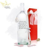 """Message In A Bottle ® """"CONTENT"""" Personalized Gift"""