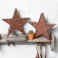 Rustic Red Lighted LED Star - Decorative Accessories - Home Decor - Home