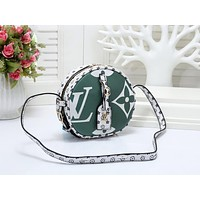 LV Louis Vuitton Fashion New Monogram Print Leather Shopping Leisure Shoulder Bag Women Green