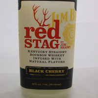 20 Ounce Pure Soy Candle in a Red Stag 750ml Glass bottle upcycled bottle Man cave bar decor - Your Choice of Scent