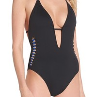 Kenneth Cole Caviar One-Piece Swimsuit | Nordstrom