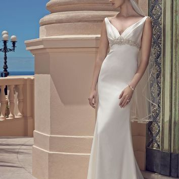 Casablanca Bridal 2200 Tank Satin Sheath Wedding Dress