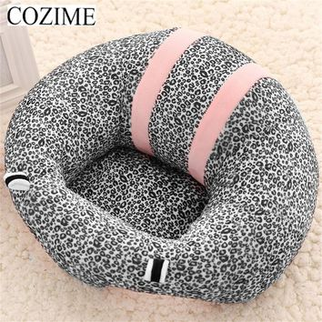 COZIME Baby Support Seat Plush Soft Baby Sofa Infant Learning To Sit Chair Keep Sitting Posture Comfortable For 0-6 Months Baby