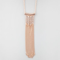 Full Tilt Geo Fringe Necklace Gold One Size For Women 25178262101