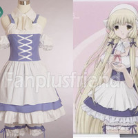 Chobits Cosplay, Chii Blue Maid Costume