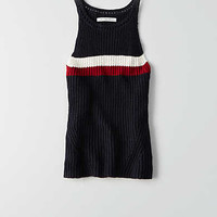 AEO Hi-Neck Sweater Tank, Multi