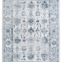 Ellis Rug, Sky Blue and Ivory