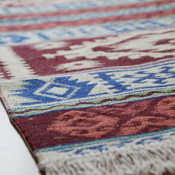 Kilim Runner Rug - New Reversible Turkish Kilim Runner Rug - Wall Hanging or Throw - 2 metres long