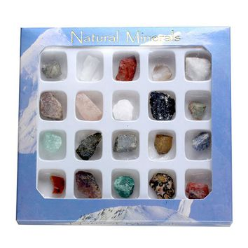 20x Mini Natural Mineral Rock Variety Tumbled Stone Chakra Healing Balancing Kit for Collectors Reiki Healers Yoga Practioner