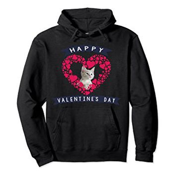 Hoodie Lovely Cat Happy Valentine's Day