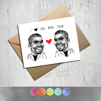 Kanye West Love Card, Valentine's Day, I Miss You Card, Happy Birthday, Blank Card, Kraft Envelope, Funny, Unique Gift, Meme, Portrait Art