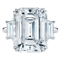 8.02 Carat D/VS2 Emerald Cut Diamond Engagement Ring