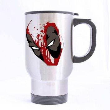 Deadpool Custom Design Travel Mug