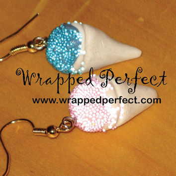 Snow Cones Polymer Clay Earrings by wrappedperfect on Etsy