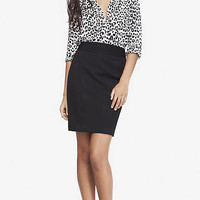 HIGH WAIST STUDIO STRETCH PENCIL SKIRT from EXPRESS