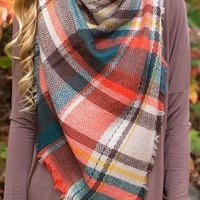 Melody Maker Plaid Blanket Scarf