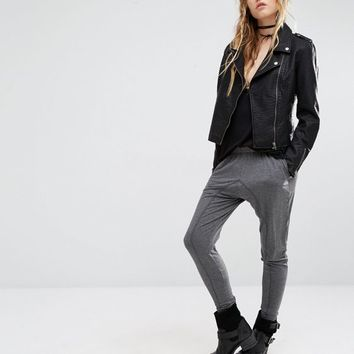 Lira Leather Look Biker Jacket at asos.com
