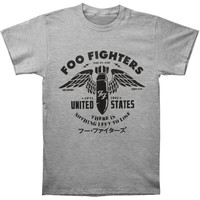 Foo Fighters Men's  Winged Bomb Tour Slim Fit T-shirt Heather Rockabilia