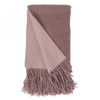Mushroom and Bisque Wool / Cashmere Double-Faced Throw