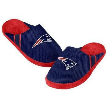 NFL New England Patriots Jersey Slippers [Men's Large - Size 11-12 US]