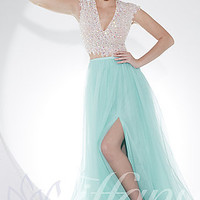 Two Piece V-neck Prom Dress by Tiffany