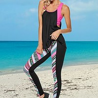 Black Multi (BKMU) Easy Fit Athletic Top