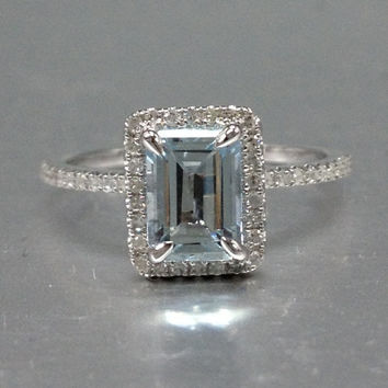 Best Emerald Cut Aquamarine Engagement Ring Products On Wanelo