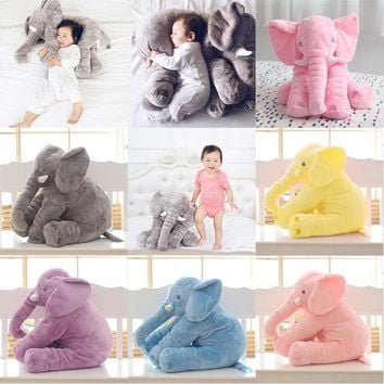 Neck Pillows for Sleeping Animal Elephant Style Elephant Plush Body Pillows Kids Bed Baby Pillow Decorative Cushion