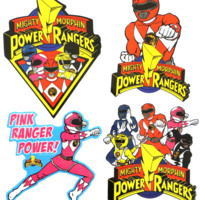 POWER RANGERS STICKER SET