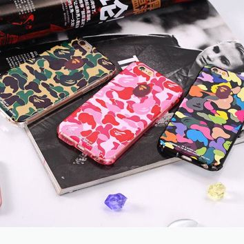 For iPhone 7 7 Plus 6 6s Plus Stylish Cool Bape Camo Camouflage Soft Case Cover