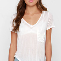 License to Chill Ivory V Neck Tee