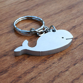 Mr. Whale - Metal Keychain
