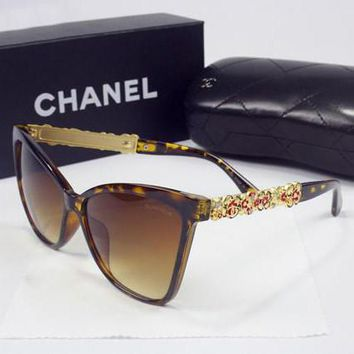 CHANEL Women Casual Popular Summer Sun Shades Eyeglasses Glasses Sunglasses