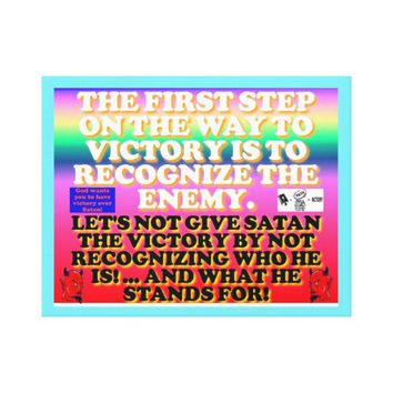 The first step on the way to victory. canvas print