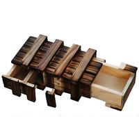 Magic Compartment Wooden Puzzle Box With Secret Drawer Brain Educational Toys HU