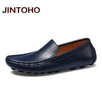 Men Leather Shoes Summer Fashion Men Loafers Glitter Leather Loafers Shoes Summer Men Boat Shoes