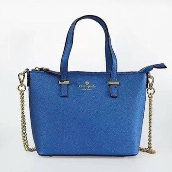 PEAPUF3 KATE SPADE Women Shopping Leather Metal Chain Crossbody Satchel Shoulder Bag