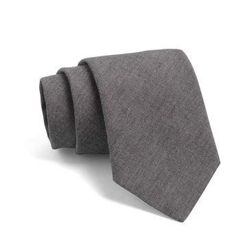 Fulton Crosshatch Tie in Dark Grey