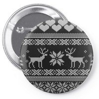 Ugly X Mas Design Pin-back button