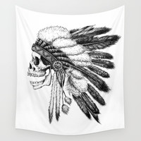Native American Wall Tapestry by Motohiro NEZU