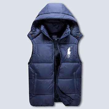 Polo Ralph Lauren Hooded Warm Vest Waistcoat Cardigan Jacket Coat