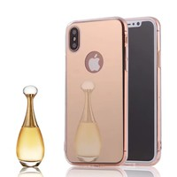 Cute Soft Mirror Case For iphone 8 Plus Cover Phone Cases For Apple iphone X 8 6 6s For iPhone 7 Plus Make up case fundas