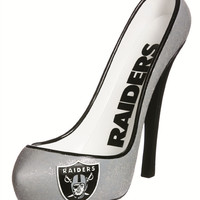 Oakland Raiders Glitter Shoe Bottle Holder