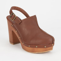 Bamboo Wilson Womens Clogs Chestnut  In Sizes