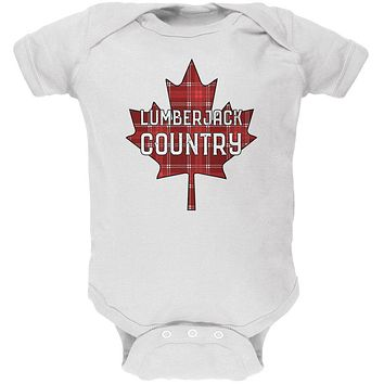 Canada Day Lumberjack Country Plaid Soft Baby One Piece